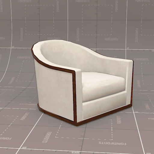 Michael Berman Piedmont Swivel Chair.