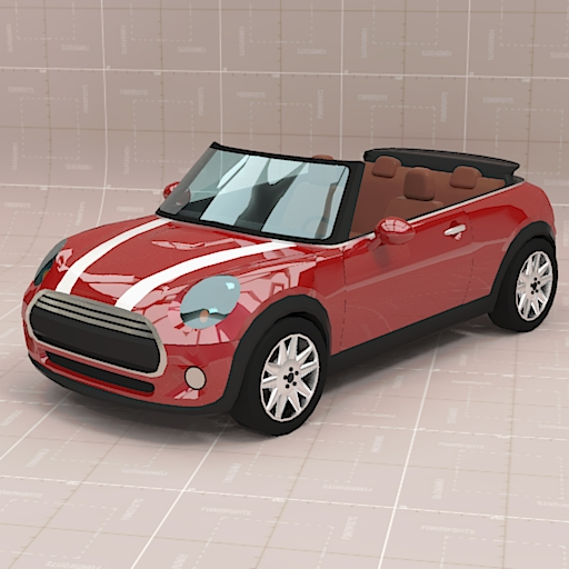 mini cooper convertible 3d model formfonts 3d models textures. Black Bedroom Furniture Sets. Home Design Ideas
