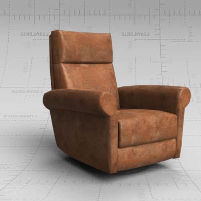 Ava Leather Reclining Armchair By American Leather.