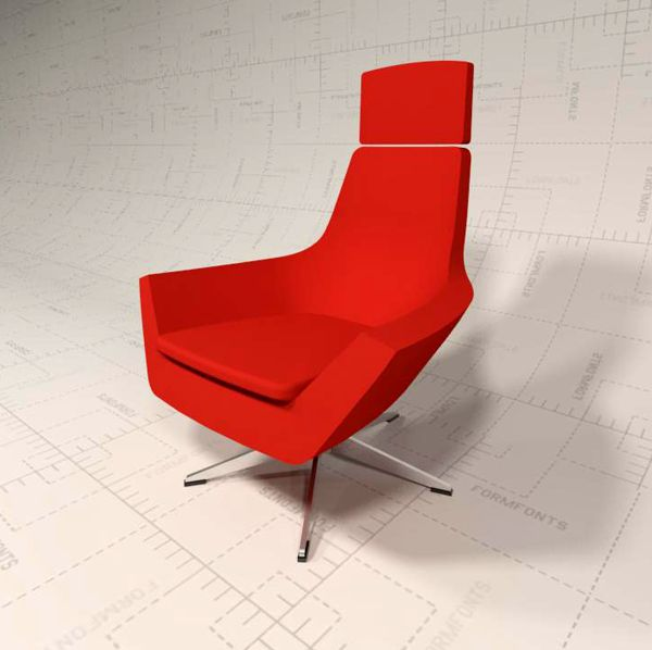 Hightower Happy Highback 5 Star Lounge Chair 3d Model