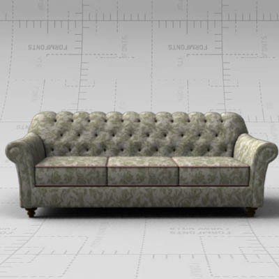 Excellent 7Ft Tufted Sofa 3D Model Formfonts 3D Models Textures Download Free Architecture Designs Grimeyleaguecom