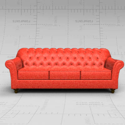 Pleasant 7Ft Tufted Sofa 3D Model Formfonts 3D Models Textures Download Free Architecture Designs Grimeyleaguecom