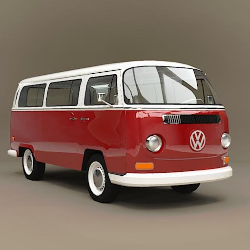 Vw Kombi 1968 3d Model Formfonts 3d Models Amp Textures