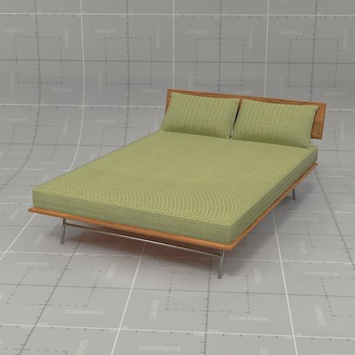 case study bed fastback case fastback bed 3d model. Black Bedroom Furniture Sets. Home Design Ideas