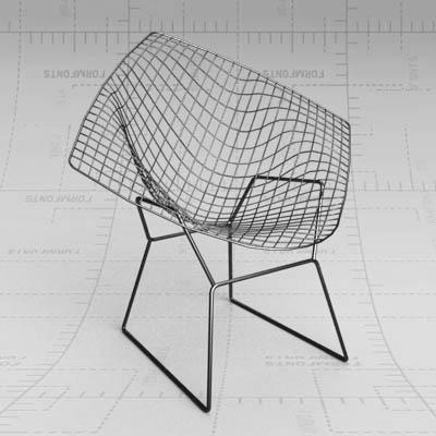 bertoia diamond chair 3d model