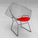 The Diamond chair, designed by 