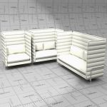 Vitra Alcove highback seating in 3 configurations....