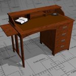 Jugend small home desk, manufactured by Niemen Teh...