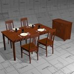 Jugend dining set, manufactured by Niemen Tehtaat ...