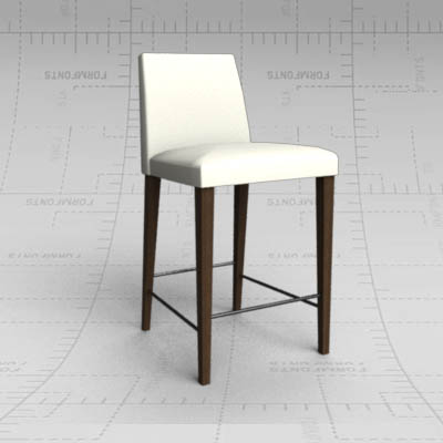 Enjoyable Anna Counter Stool 3D Model Formfonts 3D Models Textures Evergreenethics Interior Chair Design Evergreenethicsorg