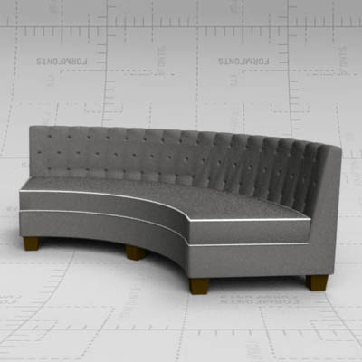Tufted Curved Sofa 3D Model
