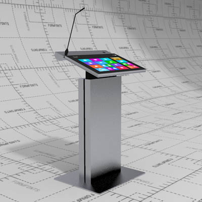 Digital Lectern 3D Model FormFonts Models amp Textures