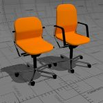 FS-Line office chair collection, seat shell flexib...
