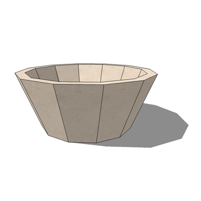 Faceted FS-12 planter by by Kornegay Design, 30