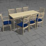 Keps and Kino dining set, frame birch, top birch o...
