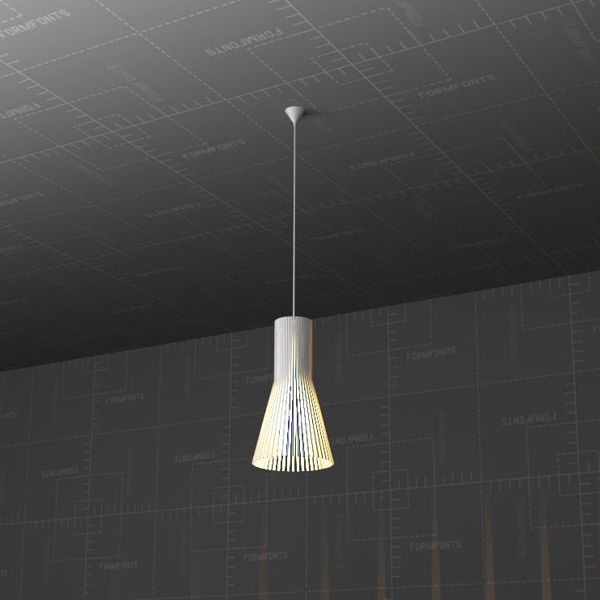 Outdoor Lights Revit: Secto 4201 Ceiling Lamp 3D Model