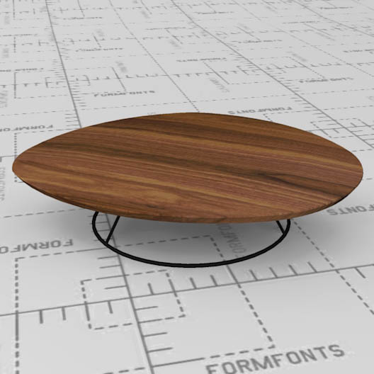 Ligne Roset Pebble Low Table. Lacquered Steel Base.