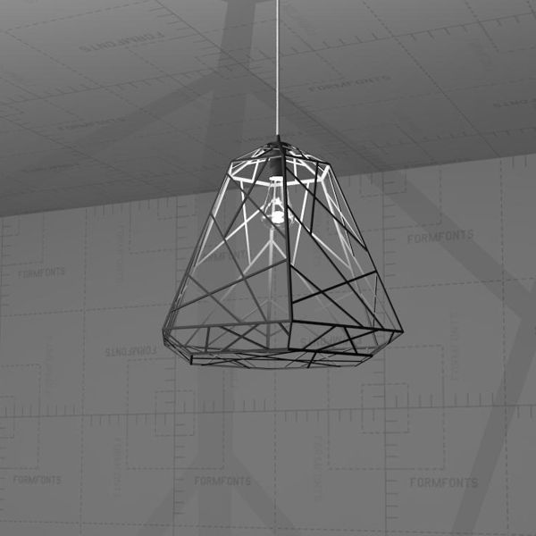 Hanging Ceiling Light 3d Autocad Model: Wright Stuff Light Pendant 3D Model