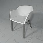 Brunner Fina Club Chair, Revit Render 