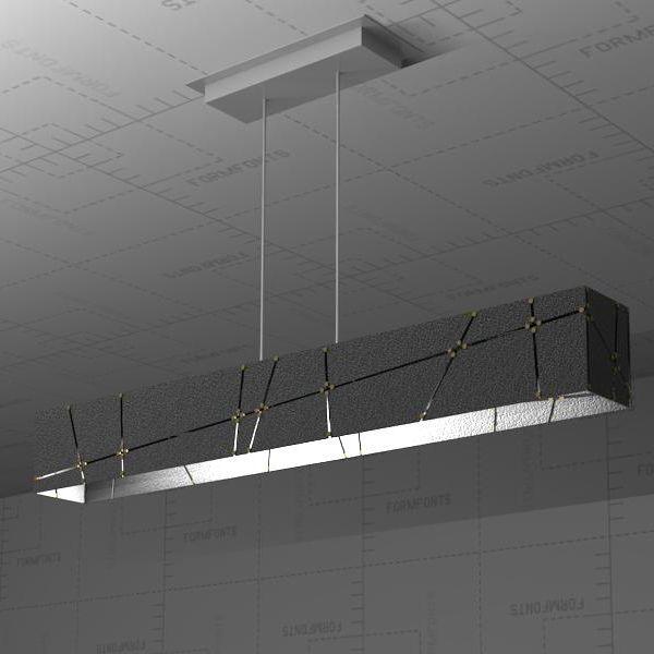 Crossroads Linear Suspension Lamp 3D Model