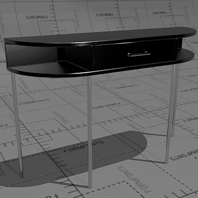 PEB Post Deco Satellite Tables 3D Model