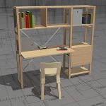 Lundia Classic home workstation, frame solid pine,...