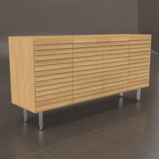 DWR Sussex Tall Credenza 3D Model
