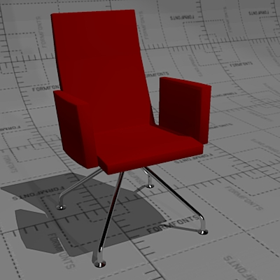 Martela Form 4 conference chair with upholstered s....