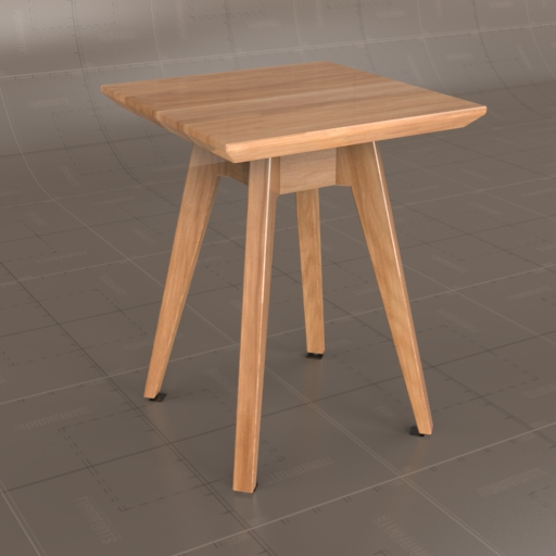 Knoll Risom square side table.