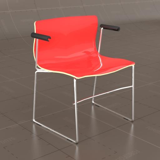 High Quality Knoll Handkerchief Chair 3D Model