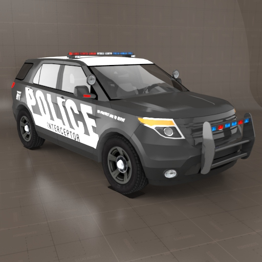Ford Explorer Police 3d Model Formfonts 3d Models Textures