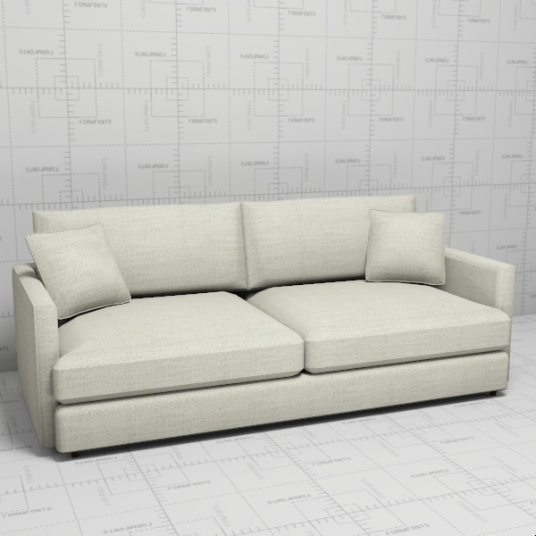 Lounge II Petite Sofa 3D Model