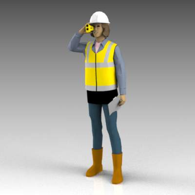 Females wearing hard hats..