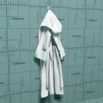 A hanging bathrobe in various 