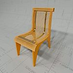 Dining Chair with maple slats and 