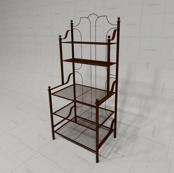 Barcelona Patio Bakers Rack 3D Model