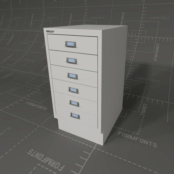 Bisley File Cabinets 3D Model