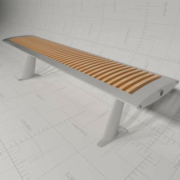 Modern Bench for both indoor and 