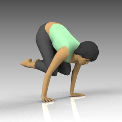 Female Yoga Poses The Crow Pose