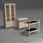Kiteen Joki storage units. Solid birch.