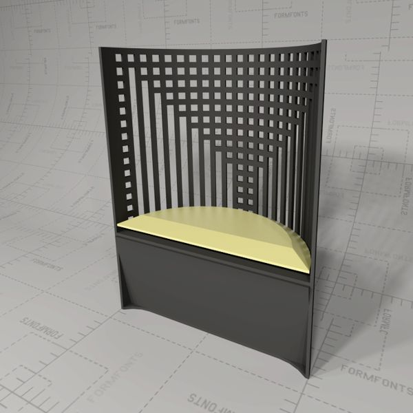 mackintosh willow chair 3d model formfonts 3d models textures. Black Bedroom Furniture Sets. Home Design Ideas