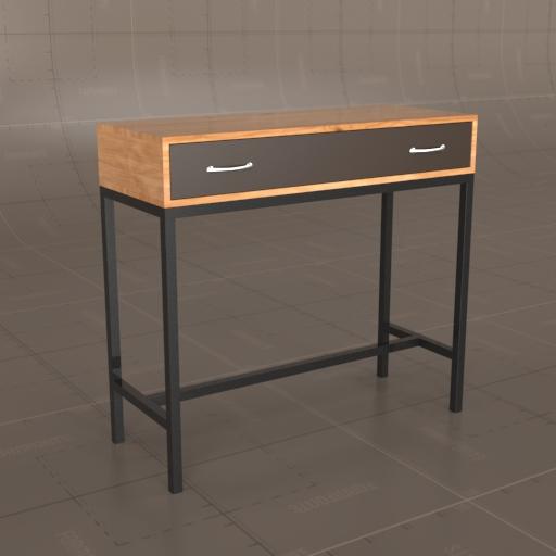 Lomond Console Table 3d Model Formfonts 3d Models Amp Textures