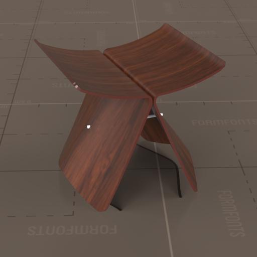 vitra butterfly stool 3d model formfonts 3d models textures. Black Bedroom Furniture Sets. Home Design Ideas