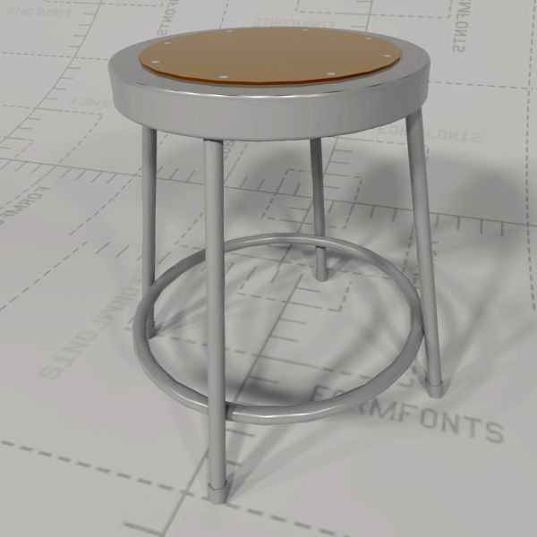 122 Series steel lab stools 