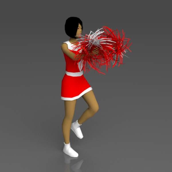 Cheerleaders 2 3D Model - FormFonts 3D Models & Textures