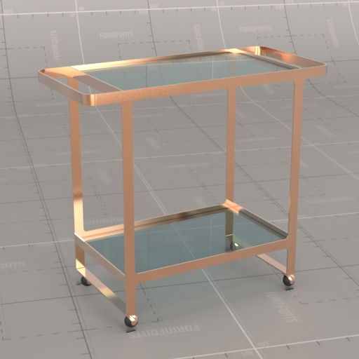 Dolce Vita Rose Gold Bar Cart.