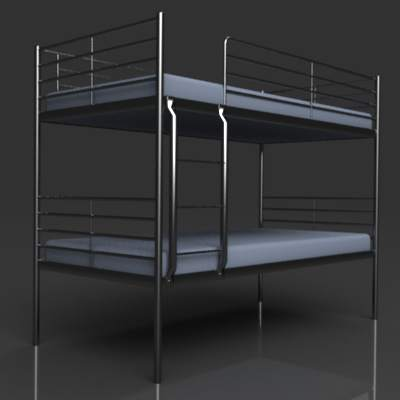 Ikea Svarta Bunk Bed 3d Model Formfonts 3d Models Amp Textures