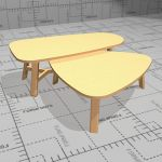 Carolina Cascade Ooccasional tables. Legs and fram...