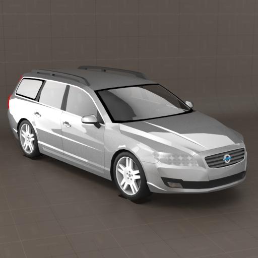 Volvo V70 3D Model FormFonts 3D Models amp Textures