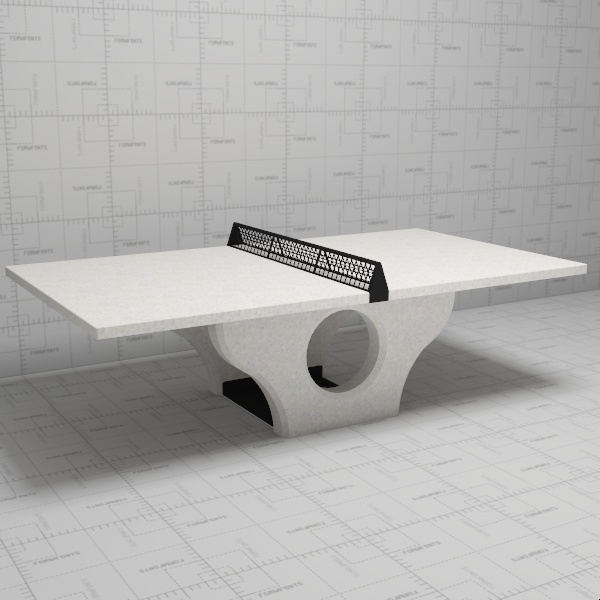 Concrete Table Tennis/ping Pong Table By Henge.